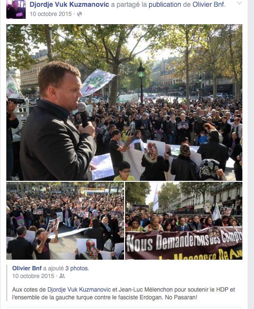 Manifestation de soutien aux Kurdes